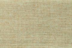 Fond vert clair de tissu mettant en sac tissé dense, plan rapproché Structure du macro de textile Photographie stock libre de droits