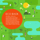 Fond vert d'Eco Images libres de droits