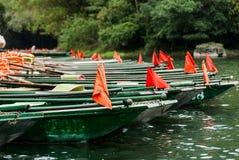 Fond vert de bateaux Image libre de droits