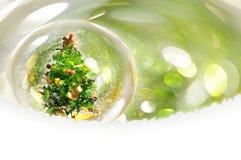 Fond vert de bokeh de Noël Images libres de droits