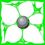 Fond vert de boue Boue réaliste de texture de bande dessinée La substance de Jelly The de colle est collante, tension, élasticité illustration stock