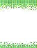 Fond vert de brochure de pixel Images stock