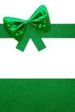 Fond vert de cadeau de Bowtie Images stock