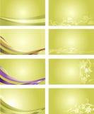 Fond vert de carte de visite professionnelle de visite Image stock