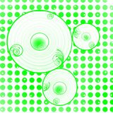 Fond vert de cercles de points Photographie stock