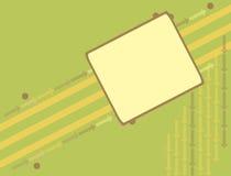 Fond vert de flèche de drapeau Image stock
