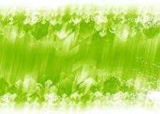 Fond vert de flèches Images stock