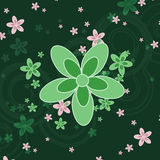Fond vert de fleur Image libre de droits