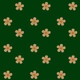 Fond vert de fleurs Photo stock