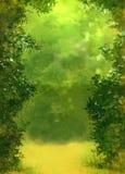 Fond vert de forêt illustration de vecteur