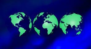 Fond vert de globe d'écologie Photographie stock libre de droits