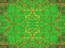 Fond vert de kaléidoscope Photographie stock libre de droits