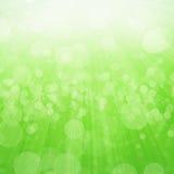 Fond vert de lumière de bokeh photos stock