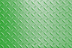 Fond vert de modèle de plat de diamant en métal Photos stock