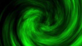 Fond vert de mouvement de boucle de vortex de nuages de brouillard de fumée banque de vidéos