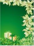 Fond vert de Noël Photographie stock libre de droits