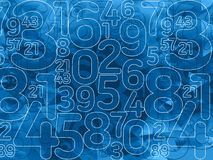 Fond vert de nombres abstraits de matrice Images libres de droits