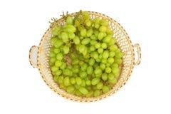 fond vert de panier de raisin Photo stock