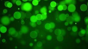 Fond vert de particules Photos stock