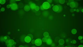 Fond vert de particules avec l'espace vide pour le texte dans le midd Image libre de droits