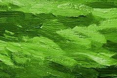 Fond vert de peinture à l'huile Photographie stock