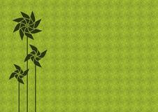Fond vert de pinwheel Photos libres de droits