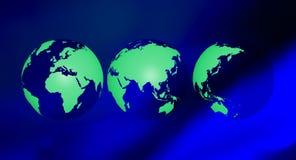 Fond vert de présentation d'écologie Photos libres de droits