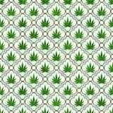 Fond vert de répétition de modèle de feuille de marijuana illustration libre de droits