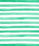 Fond vert de rayures d'aquarelle Images libres de droits