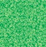 Fond vert de seamles pour Pâques Images stock
