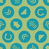 Fond vert de Teal Arrow Circles Seamless Pattern de vecteur illustration stock