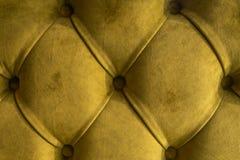 Fond vert de textile de capitone de velours, decorati tufté doux à carreaux de modèle de diamant de meubles de tissu de rétro sty images libres de droits