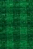 Fond vert de texture de tissu de plaid Photos libres de droits