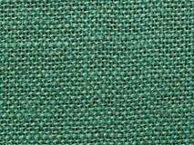 Fond vert de texture de tissu de toile de jute Photo libre de droits