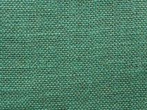 Fond vert de texture de tissu de toile de jute Photographie stock libre de droits