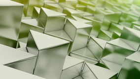 Fond vert de triangles Images libres de droits