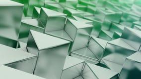 Fond vert de triangles Photo libre de droits