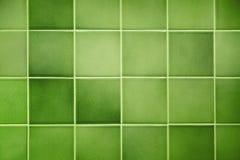 Fond vert de tuile Photographie stock libre de droits