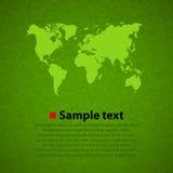 Fond vert de vecteur de carte du monde Images stock
