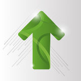 Fond vert de vecteur de flèche ENV 10 Photos stock