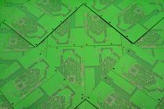 Fond vert des cartes électronique image stock