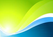 Fond vert dynamique illustration de vecteur