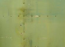 Fond vert en métal Photo libre de droits