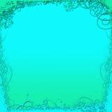 Fond vert et bleu Photos libres de droits