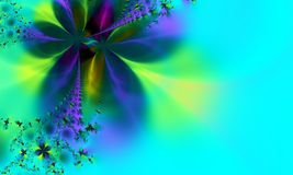 Fond vert et bleu lunatique Images stock