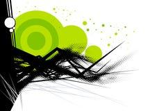 Fond vert et noir illustration libre de droits