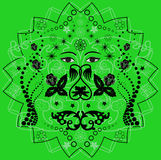 Fond vert et noir abstrait Illustration Stock