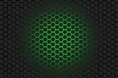 Fond vert et noir d'hexagone Photo stock