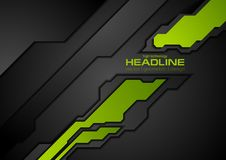 Fond vert et noir de technologie d'abrégé sur contraste illustration stock