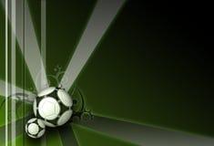Fond vert-foncé d'élégance du football Photos stock